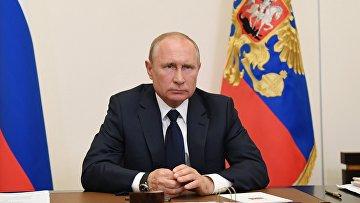 Президент РФ В. Путин провел совещание о ситуации с пандемией коронавируса 11 мая 2020