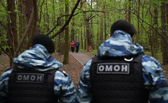 Патрулирование Москвы сотрудниками полиции