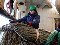Рыбный промысел в районе острова Кунашир