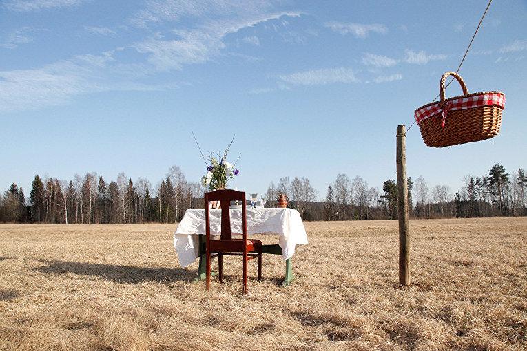 Семейная пара из шведского Рансэтера открыла ресторан на лугу всего с одним столом