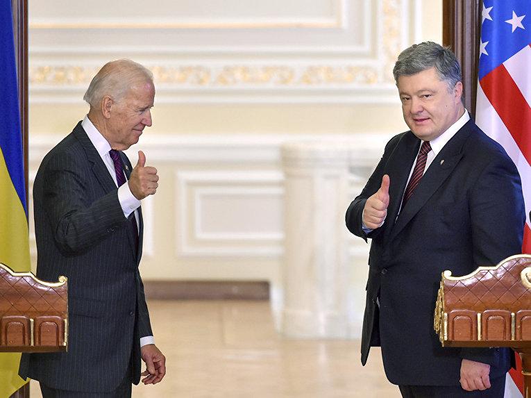 Встреча президента Украины Петра Порошенко с вице-президентом США Джо Байденом в Киеве