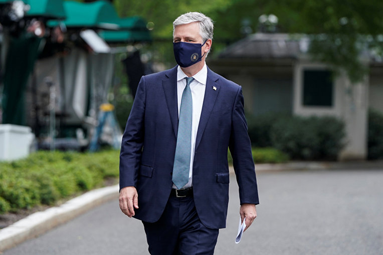 24 мая 2020. Советник президента США по национальной безопасности Роберт О'Брайен в Белом доме, Вашингтон, США