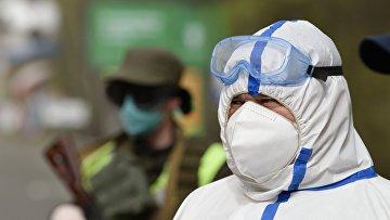 Блокпосты на въезде в Киев