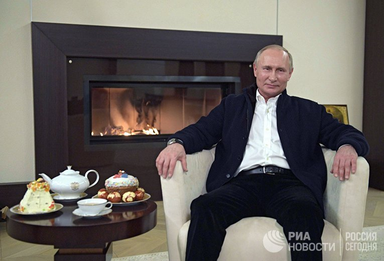 Президент РФ В. Путин поздравил православных христиан и всех граждан России, отмечающих Пасху, с праздником