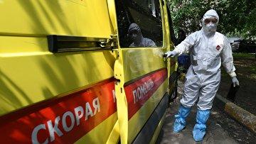 Работа бригады скорой помощи в Москве