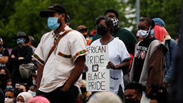 Участники протеста в Сиэтле, штат Вашингтон