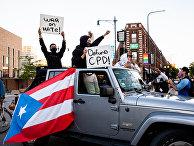14 июня 2020. Протесты Black Lives Matter в Чикаго, США