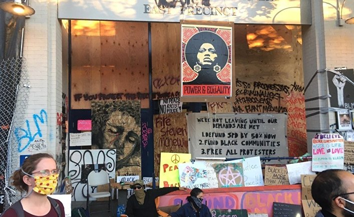 Протесты в Сиэтле