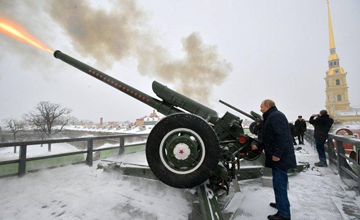 Президент РФ В. Путин посетил Петропавловскую крепость