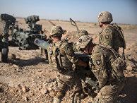 Американские солдаты на аэродроме Бост, Афганистане