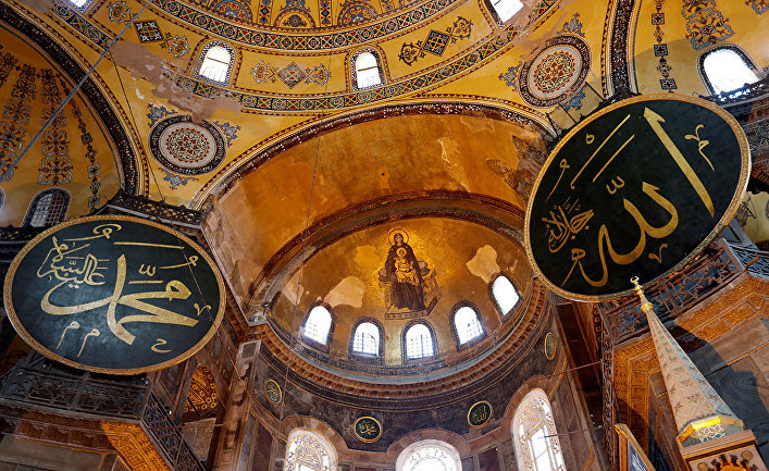 Экстерьер собора Святой Софии в Стамбуле, Турция