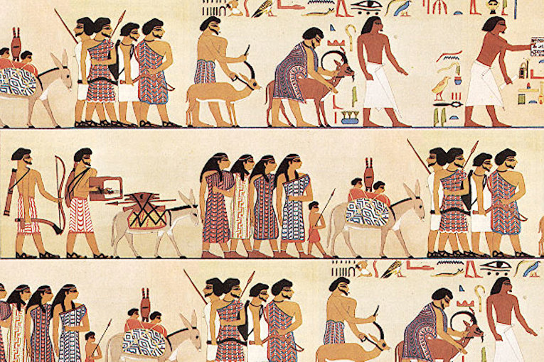 Древнеегипетский настенный рисунок