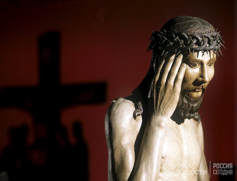Фрагмент скульптуры «Христос в темнице»