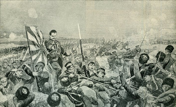 Нападение японцев на российские войска