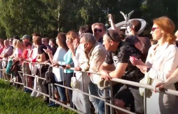 В Минске прошел большой митинг Тихановской