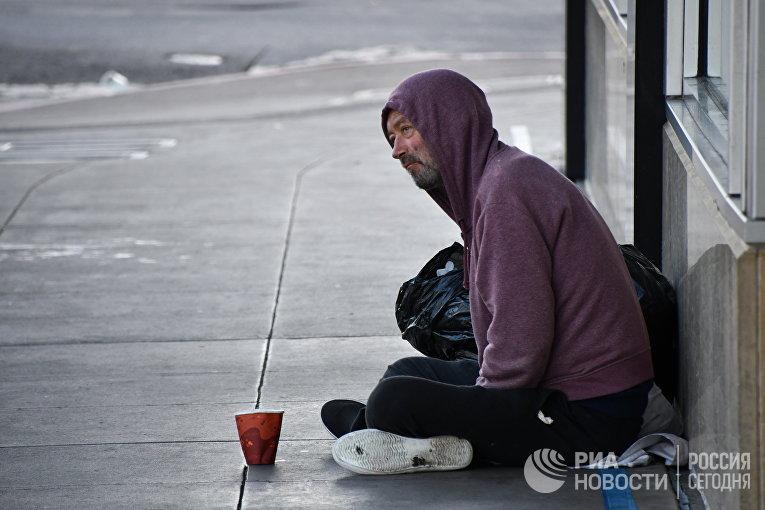 Бездомный в Сан-Франциско