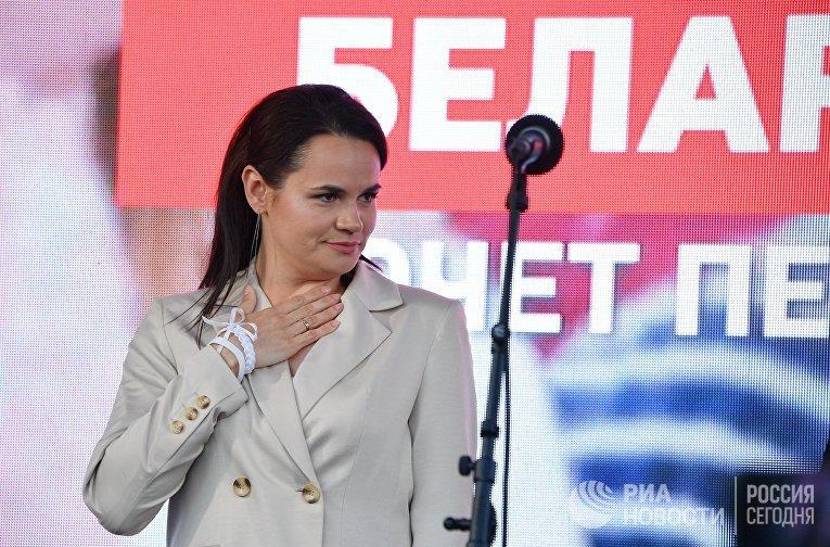 Кандидат в президенты Белоруссии Светлана Тихановская