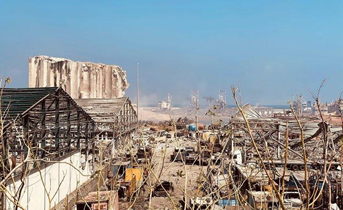 Последствия взрыва в Ливане