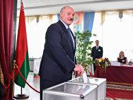 Александр Лукашенко на выборах президента Белоруссии 9 августа