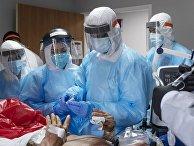 Госпиталь для больных коронавирусом в Техасе