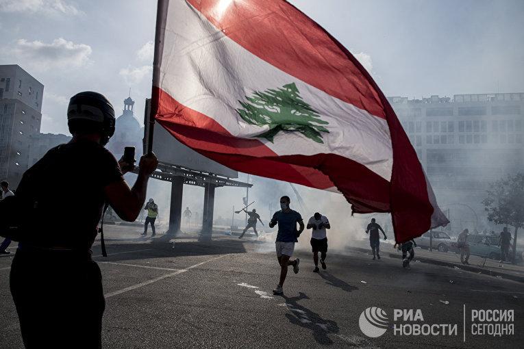 Столкновения в центре Бейрута