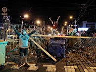 Участники акций протеста в Минске