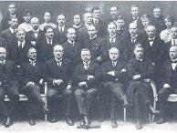Члены финской делегации Юхо Кусти Паасикиви, Александр Фрей, Вяйнё Кивилинна, Вяйнё Таннер, Рудольф Вальден