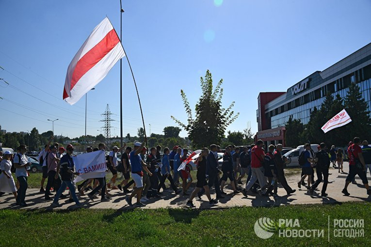 Акция работников заводов в Минске