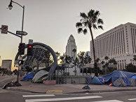 Лагерь бездомных в центре Лос-Анджелеса
