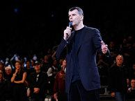 Михаил Прохоров выступает в Barclays Center в Нью-Йорке
