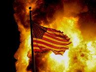 Флаг США в Кеноше, штат Висконсин