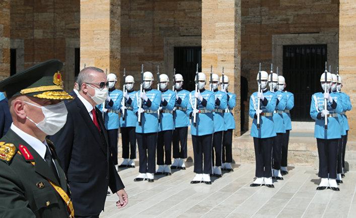 30 августа 2020. Президент Турции Реджеп Тайип Эрдоган на торжественной церемонии в Анкаре