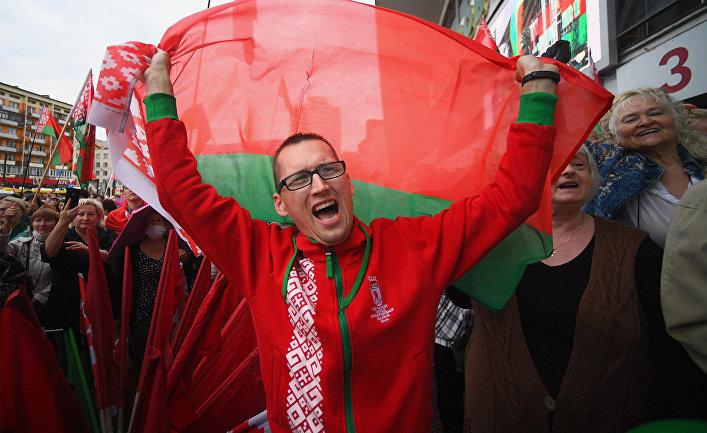 Акция в поддержку А. Лукашенко в Минске