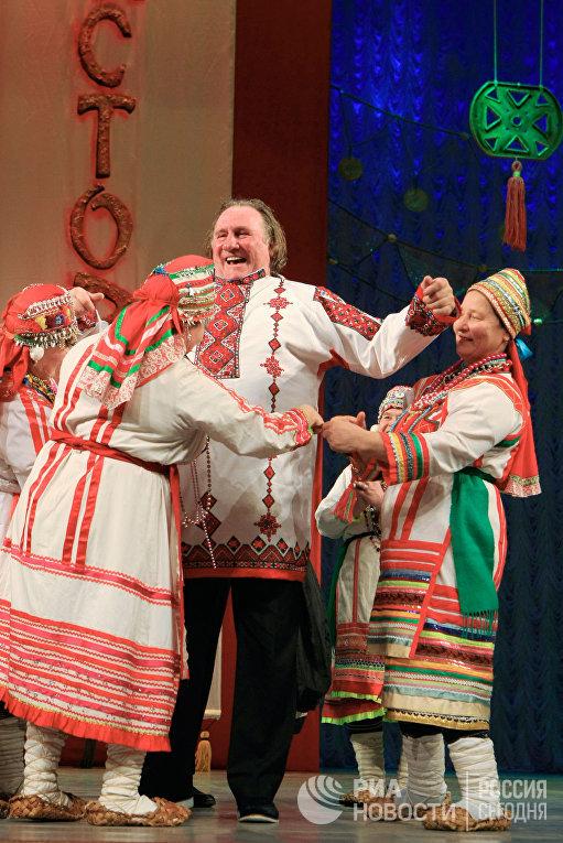 Актер Жерар Депардье в Саранске