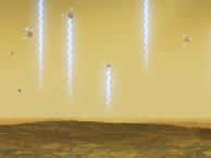 Атмосфера Венеры и молекулы фосфина в ней в представлении художника