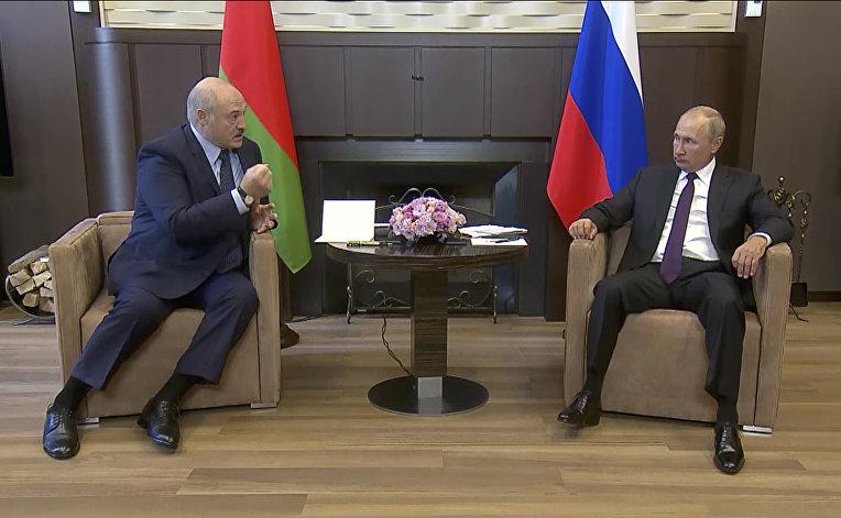 14 сентября 2020. Встреча Александра Лукашенко и Владимира Путина в Сочи