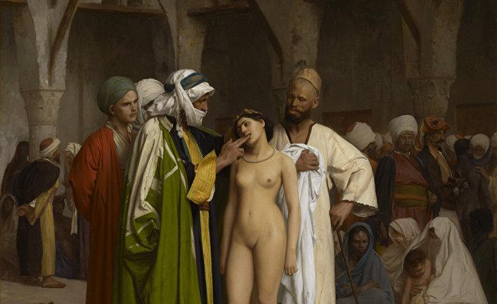 Сексуальное порабощение белых женщин мусульманами в изобразительном искусстве.