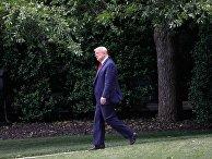 Дональд Трамп на южной лужайке Белого дома