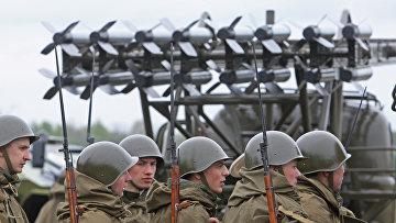 Подготовка военной техники к параду Победы в Калининградской области