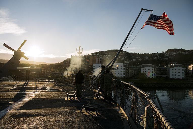 3ноября 2018. Американские военные вовремя учений «Единый трезубец» насевере Норвегии