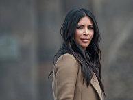 Американская модель, актриса Ким Кардашьян во время памятных мероприятий в Ереване