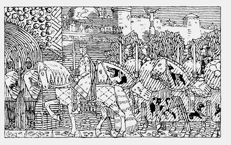 Король Сигурд вступает в Константинополь