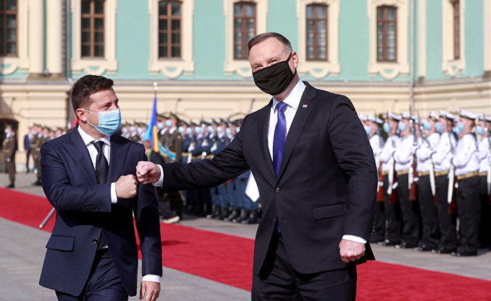 Президент Украины Владимир Зеленский и президент Польши Анджей Дуда