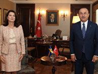 13 октября 2020. Пресс-конференция глав МИД Швеции Анн Линде и Турции Мевлюта Чавушоглу в Анкаре, Турция