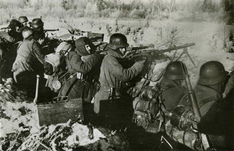 Солдаты «Голубой дивизии»