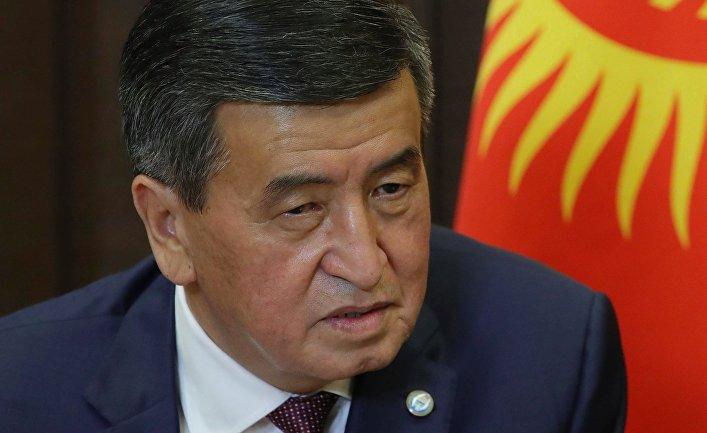 Президент Киргизской Республики Сооронбай Жээнбеков
