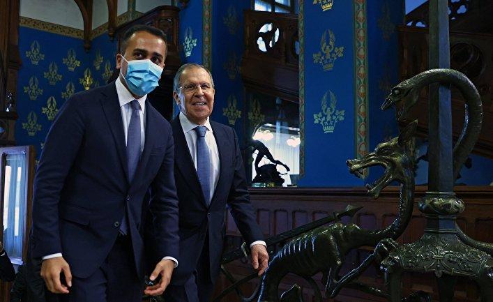 Встреча глав МИД РФ и Италии С. Лаврова и Луиджи ди Майо