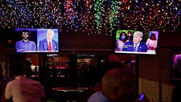 Трансляция выступлений Дональда Трампа и Джо Байдена