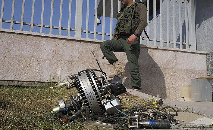 Фрагменты азербайджанского БПЛА, сбитого близ Степанакерта