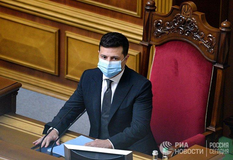 Выступление В. Зеленского на заседании Рады